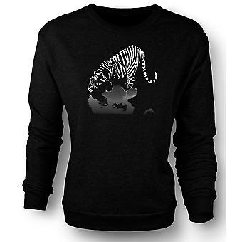 Womens Sweatshirt Artistic Tiger Print