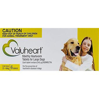 Valuheart Gold Dogs 21-40kg - 6 Chewables