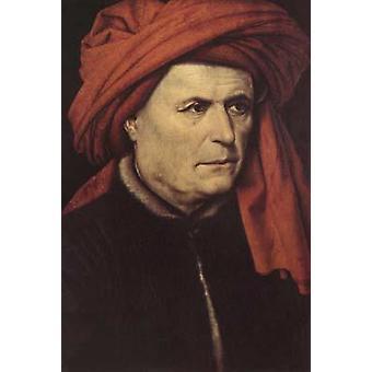 Portræt af en mand, Robert Campin, 40,7 x 28,1 cm