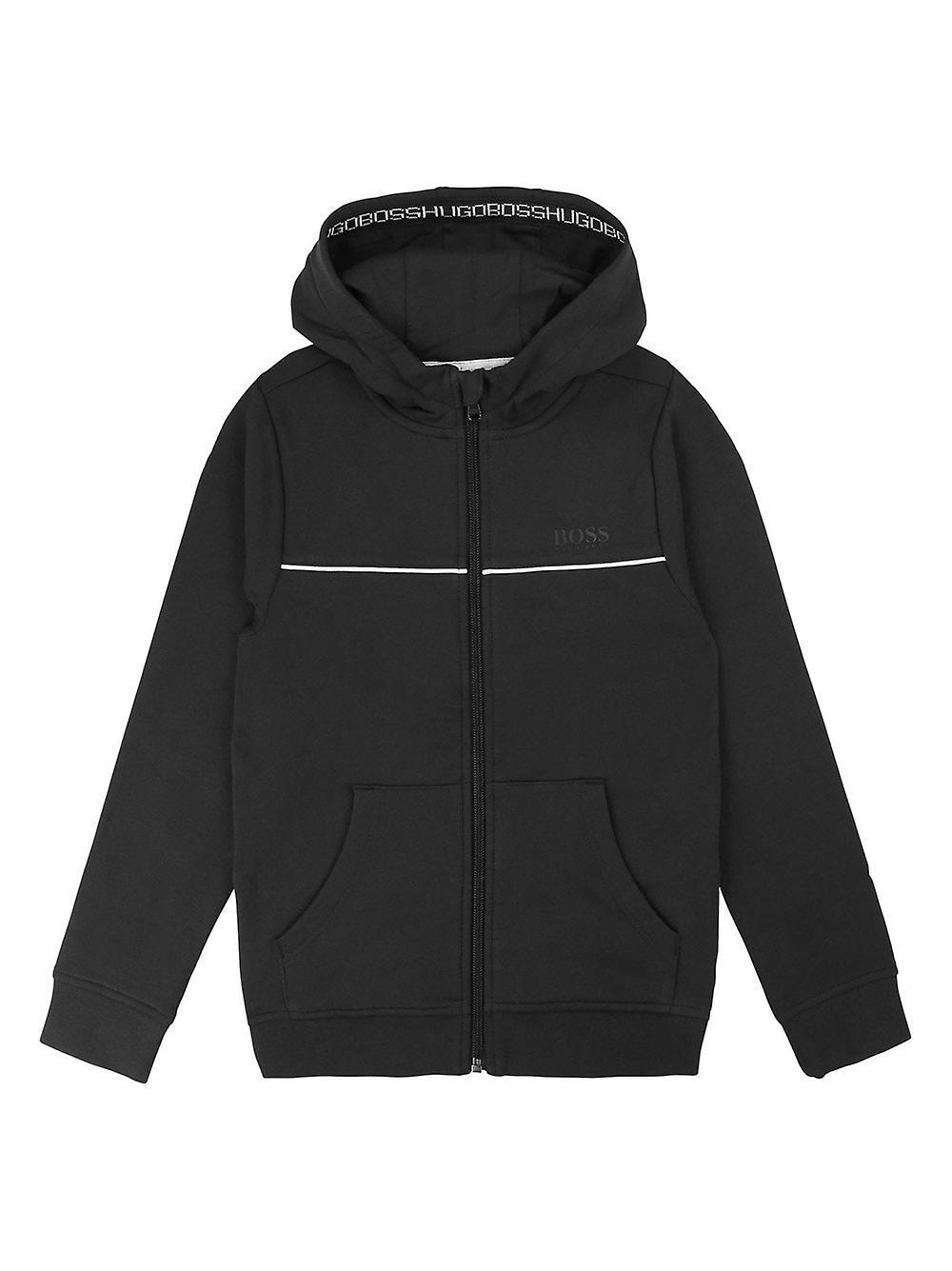 BOSS Enfantswear BOSS noir Cotton encapuchonné Sweatshirt