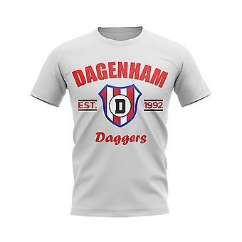 Dagenham etabliert Fußball T-Shirt (weiß)
