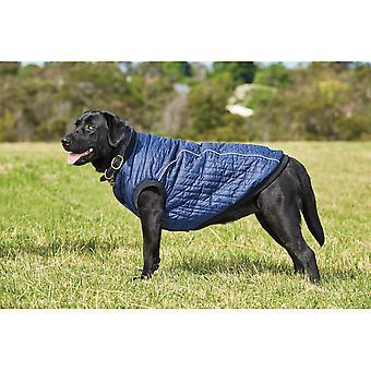 Weatherbeeta puffer hunde frakke-navy blå
