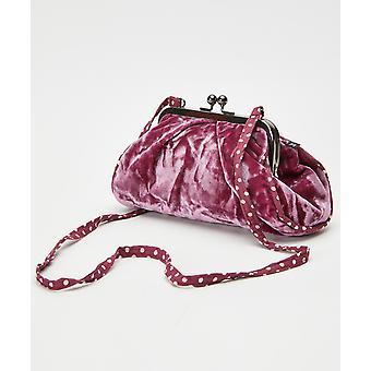Joe Browns Womens Vintage Velvet Polka Dot Clutch Bag