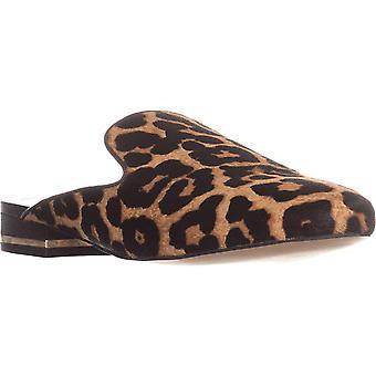 Michael Michael Kors Womens Natasha Leather Closed Toe Casual Slide Sandals
