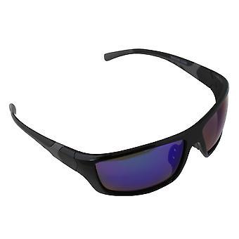Sonnenbrille UV 400 Sport Rechteck Polarisation Glas schwarz mehrfarbig S366_5 FREE BrillenkokerS366_5