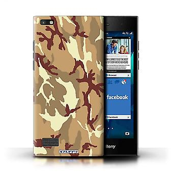 STUFF4 Case/Cover for Blackberry Leap/Brown 4/Camouflage Army Navy