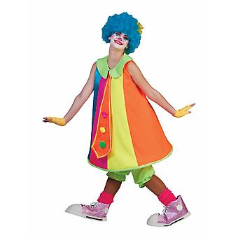 Clown Dress Silly Billy Costume Ladies Fool Circus Funmaker Colorful Carnival Women's Costume