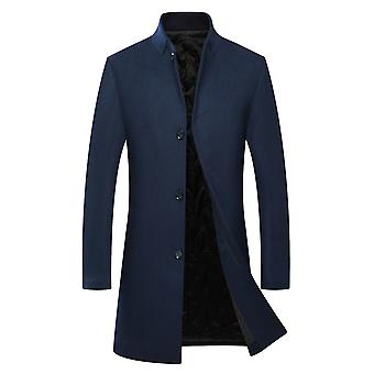 Allthemen Men's Slim Fit Thick Warm Autunno & Winter Wool Cappotto