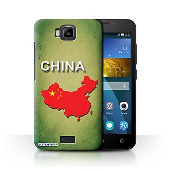 STUFF4 Case/Cover for Huawei Honor Bee/Y5c/China/Chinese/Flag Nations