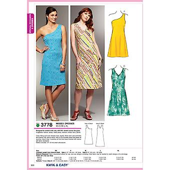 Dresses  Xs  S  M  L  Xl Pattern K3778