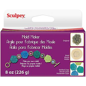 Sculpey Mold Maker 8 Ounces Pkg Cream Emm08