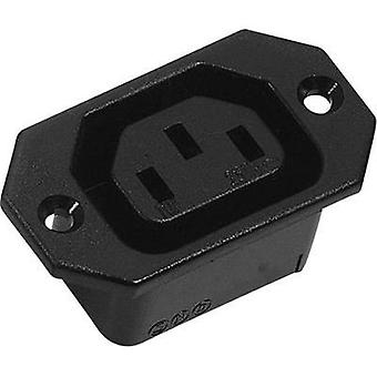 IEC connector C13 ATT.LOV.SERIES_POWERCONNECTORS 42R Socket, vertical vertical Total number of pins: 2 + PE 10 A Black K