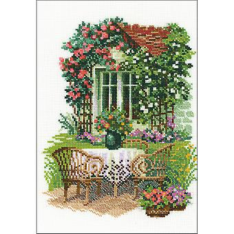 Morning In The Country Counted Cross Stitch Kit-8.25