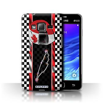 STUFF4 Case/Cover for Samsung Z1/Z130/Canada/Montréal/F1 Track Flag