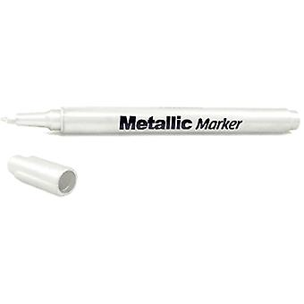 Metallic Permanent Marker 1.2mm Fine Point-White SW460-F