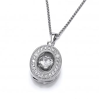 Cavendish French Oval CZ Dancing Stone Pendant