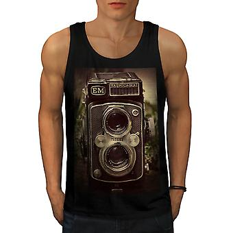 Old Foto Camera Men Black Tank Top | Wellcoda