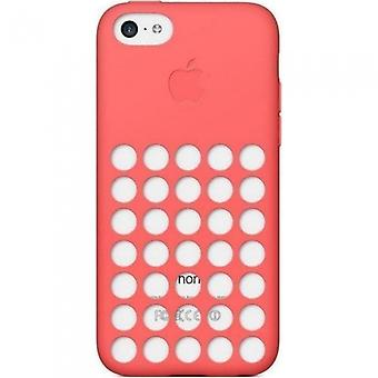 Apple MF036ZM/A silicone cover case, iPhone 5c in pink