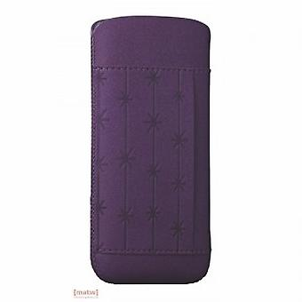 Ozaki coat nature snowflake leather bag purple iPhone 5 5 S OC551SF