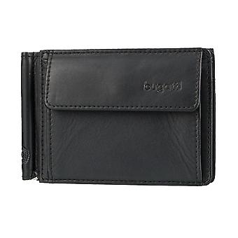 Bugatti Primo mens wallet card case wallet with money clip 3616