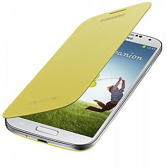 Samsung EF-FI950BYEG opprinnelige vende cover, Galaxy S4 / LTE gul