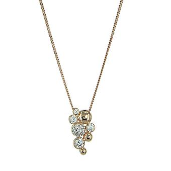 ESPRIT women's chain necklace silver red gold ESNL92993B420