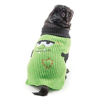 Pequeña picadura Halloween suéter verde Extra Extra pequeño