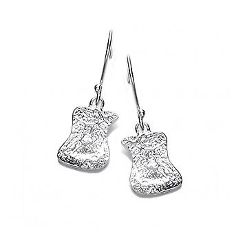 Cavendish French Silver Interlocking Drop Earrings