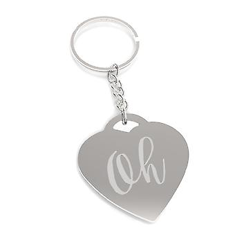 Oh Nickel Plated Funny Graphic Car Key Chain Gift Ideas For Friends