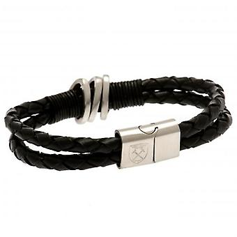 West Ham United Leather Bracelet
