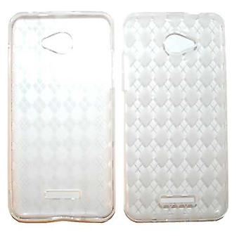 Onbeperkt cellulaire Deluxe Silicon Case for HTC Droid DNA (PU huid, transparante C