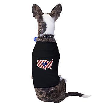 США карта американского флага ПЭТ рубашку для небольших собак 4 июля подарков
