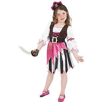 Kostium piratem sukienka piracki różowy dziewczyna