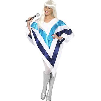 Schlager costume 70s poncho Super Trooper Cape ladies