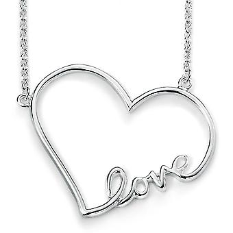 925 Silver Love Heart Necklace