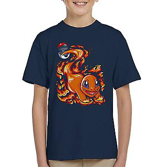 Charmander Pokeball Pokemon Kid's T-Shirt