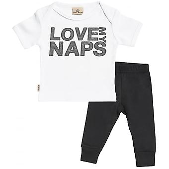 Spoilt Rotten Love My Naps Baby T-Shirt & Baby Jersey Trousers Outfit Set