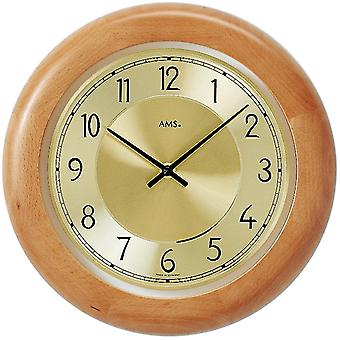 Wood wall clock quartz wall clock wall clock quartz solid wood frame beech