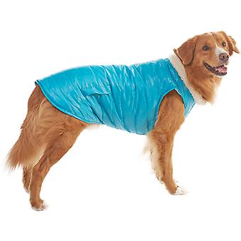 Dog Reversible Puffy Coat-Blue Large 701636