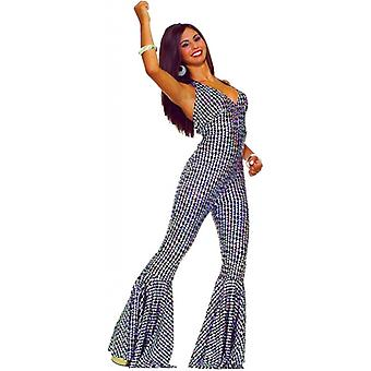 Boogie Dancing Babe Disco Fever 70s Jumpsuit Women Costume
