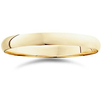 3mm Dome High Polished Wedding Band 10K Yellow Gold