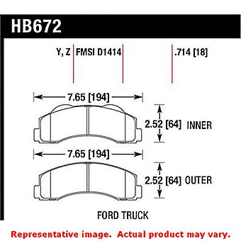 Hawk Truck/SUV Brake Pads HB672Y.714 Fits:FORD 2010 - 2014 EXPEDITION  Position