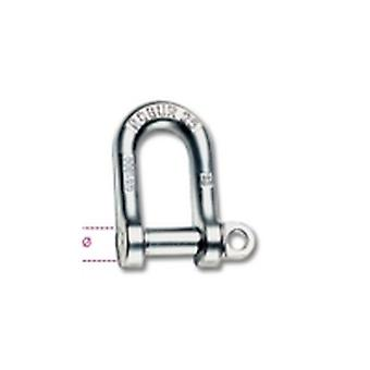 8025 14 Beta 14mm Large Dee Shackles Hot Forged Carbon Steel Grade 4 Galvanized