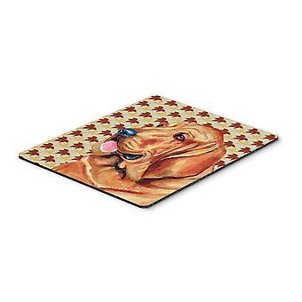 Бладхаунд осенью листья портрет коврик, горячие Pad или подставка