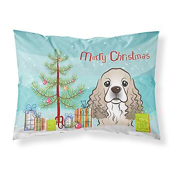 Christmas Tree and Cocker Spaniel Fabric Standard Pillowcase