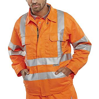 B-Seen Rail Spec Hi Vis Jacket With Multi Pockets & Teflon Coating - Rsj