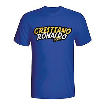 Cristiano Ronaldo Comic Book T-shirt (blue) - Kids