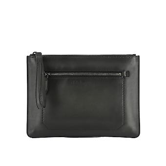 Salvatore Ferragamo women's 0678851 black leather clutch