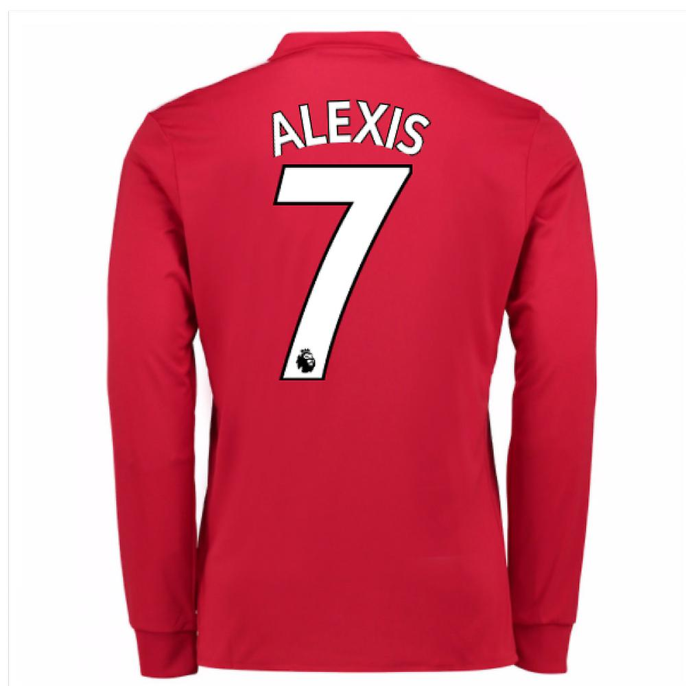 20Alexis 77-20Alexis 78 Man United Long Sleeve Home Shirt (Alexis 7)