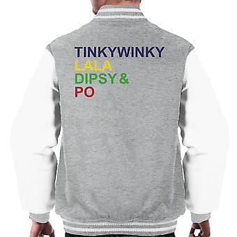Teletubbies Character List Men's Varsity Jacket